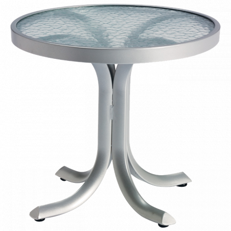 "20"" Round Tea Table with Acrylic Top"