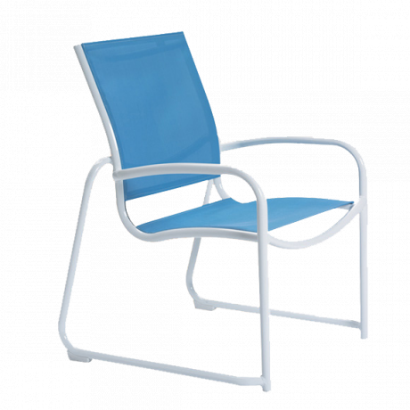 Millennia Relaxed Sling Sled Base Dining Chair