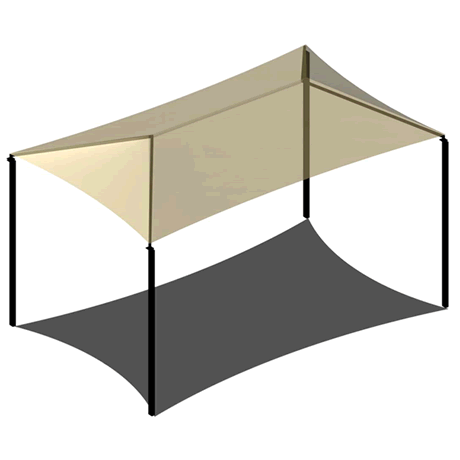 Four Post Hip 18EH x 18x24 Shade Structure