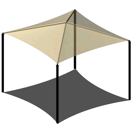 Four Post Pyramid 15EH x 18' Shade Structure