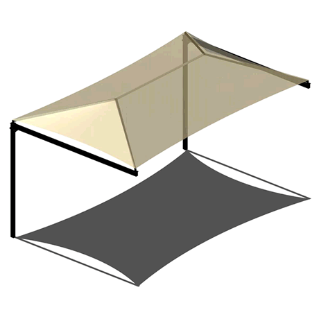 Single Post Cantilever Hip 8EH x 8x14 Shade Structure