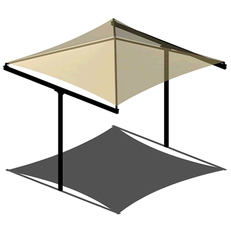 T-Post Pyramid 12EH x 8' Shade Structure