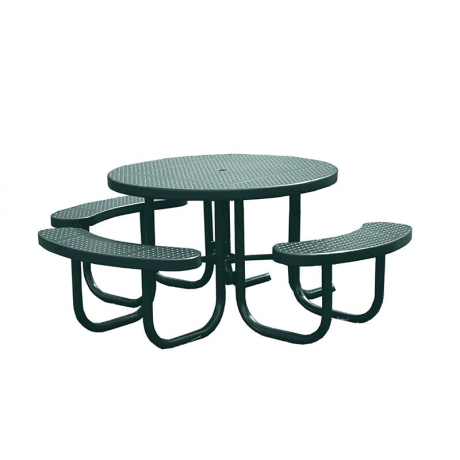 Champion Series Round Picnic Table with 3 Seats - Free Standing - 4' Top