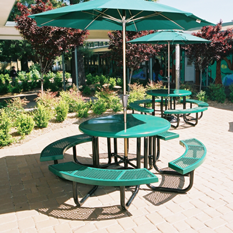 Commercial Picnic Tables For Schools Parks Outdoor Picnic Tables - Commercial table umbrellas