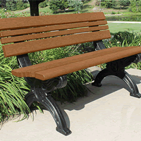 Recycled plastic benches for parks and gardens.