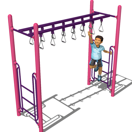 Horizontal Ladders, Monkey Bars