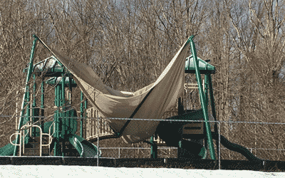 Shade Structure damaged by Snow -001