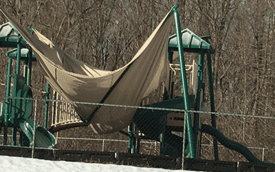 Shade Structure damaged by Snow -002