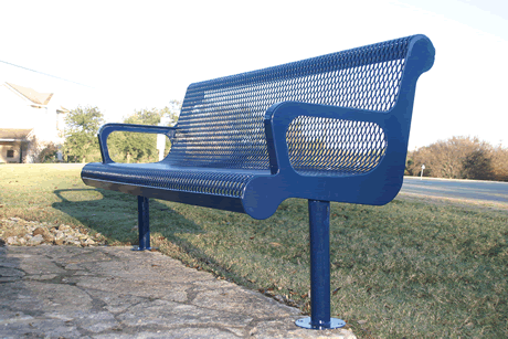 4' Lexington Contoured Bench With Arm