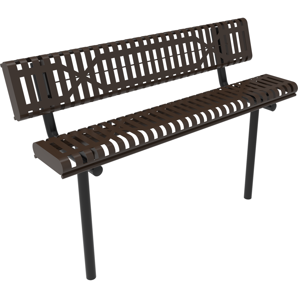 4' Lexington Bench With Back