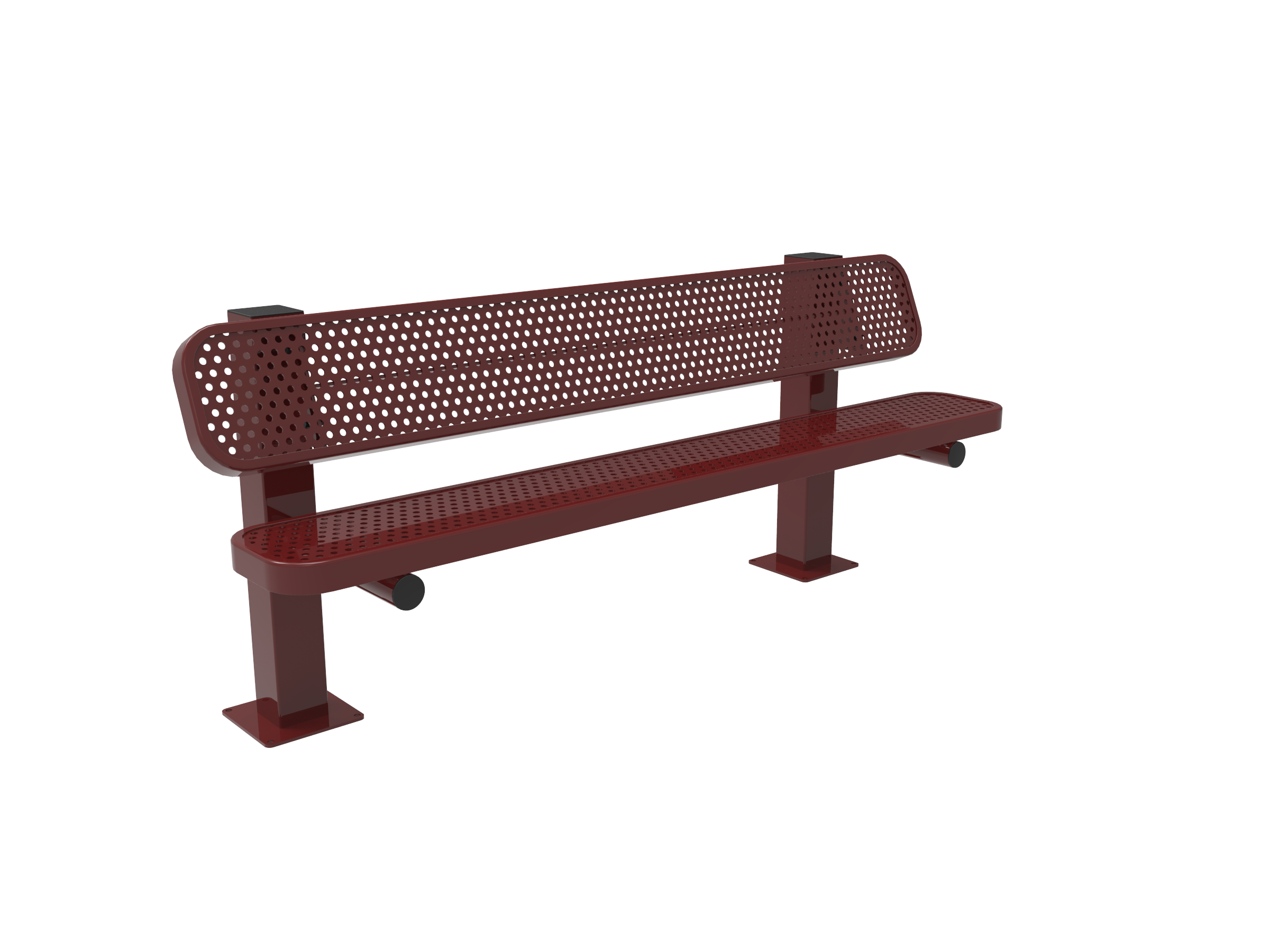 Rivendale Single Pedestal Bench with Back