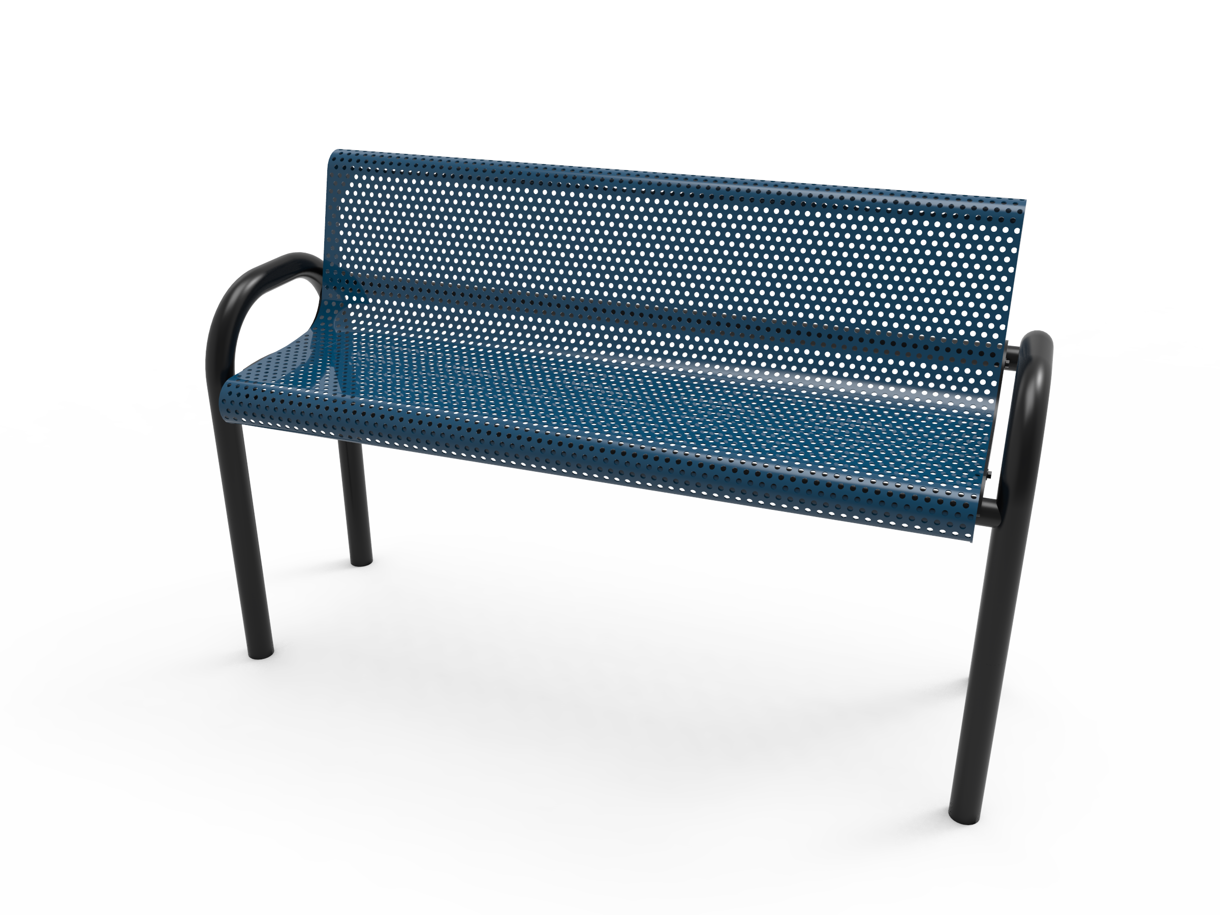 4' Lexington MOD Bench with Back