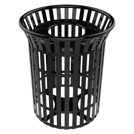 32 Gallon Lexington Skyline Trash Receptacle With Flared Top
