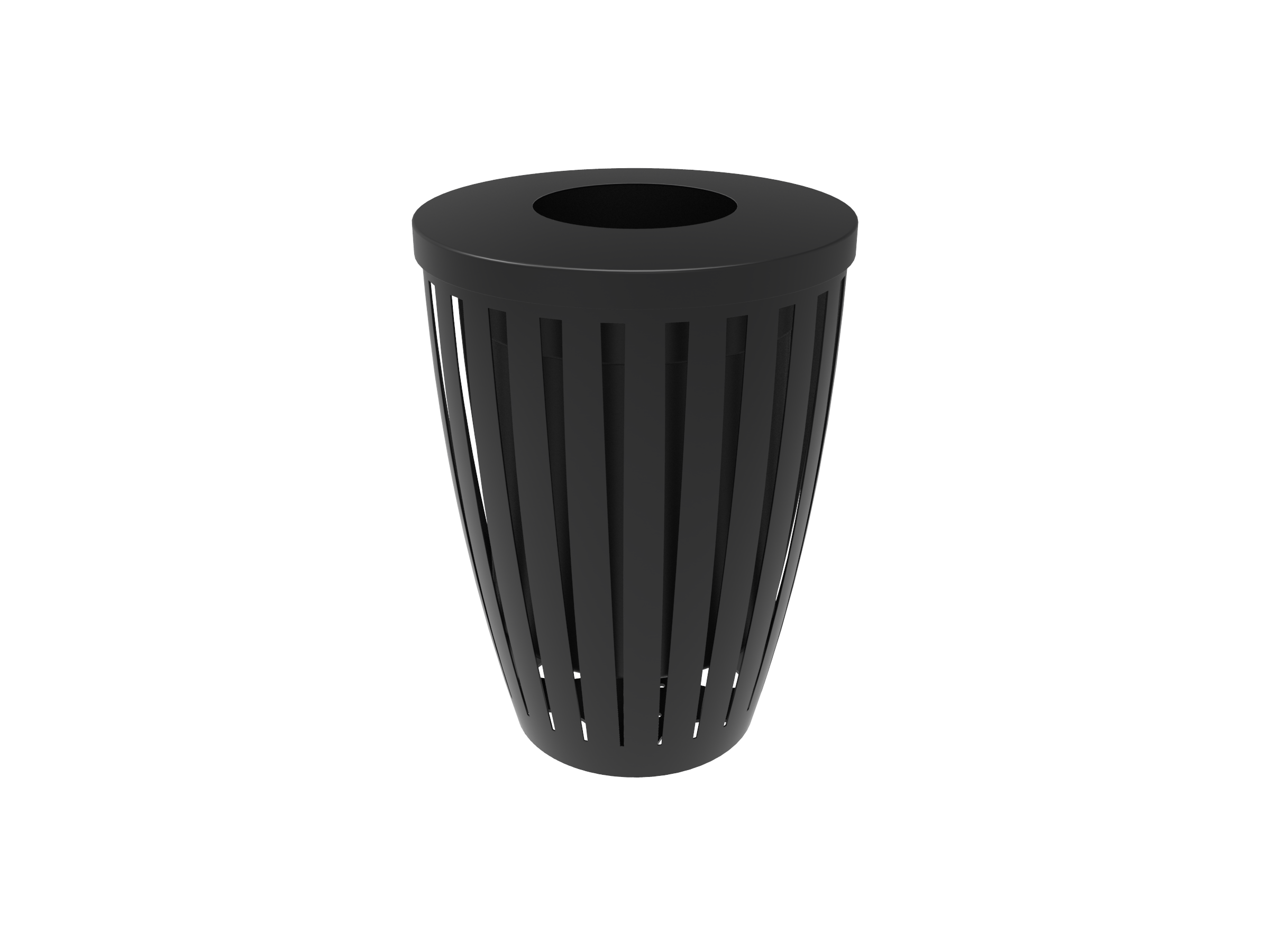 32 Gallon Downtown Trash Receptacle with Flattop