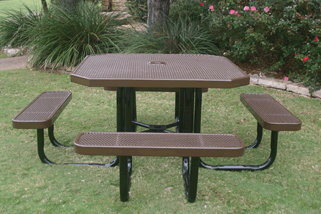 """46"""" Lexington Octagon Portable Table, Punched Steel, Advanced DuraLex Coating"""