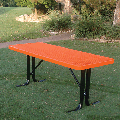 4' Lexington Rectangular Utility Table, Punched Steel, Advanced DuraLex Coating