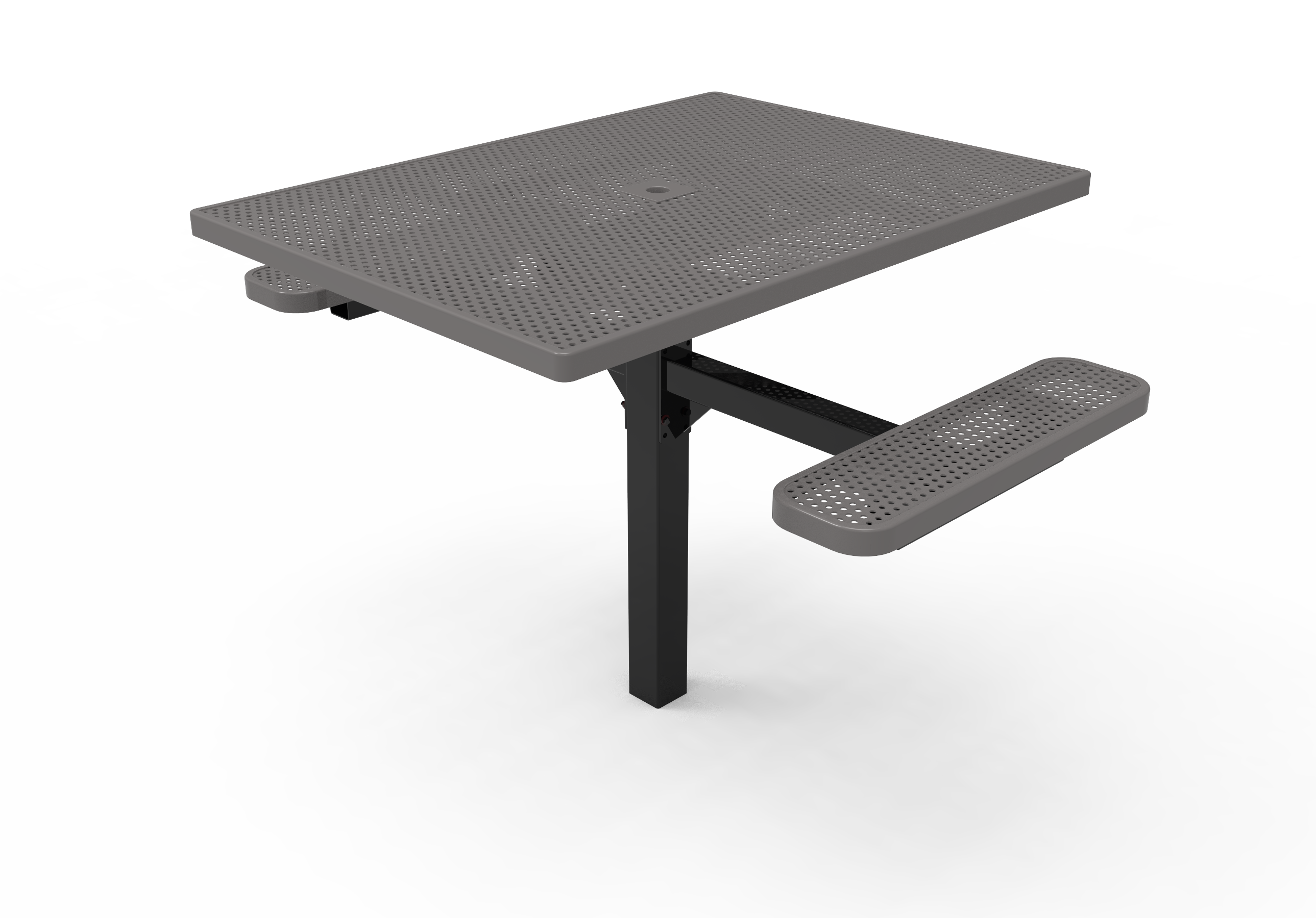 Lexington Square Pedestal Table- ADA Accessible, Frame with Powder Coat Finish, Top and Seats with Advanced DuraLex Coating