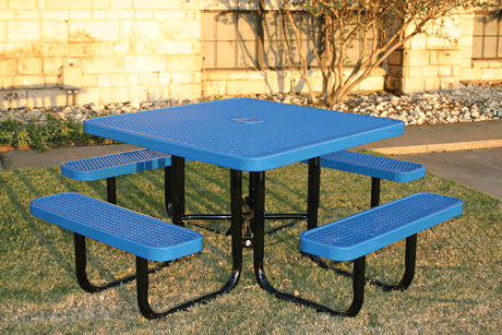Pleasing Thermoplastic Coated Picnic Tables Commercial Picnic Tables Gmtry Best Dining Table And Chair Ideas Images Gmtryco