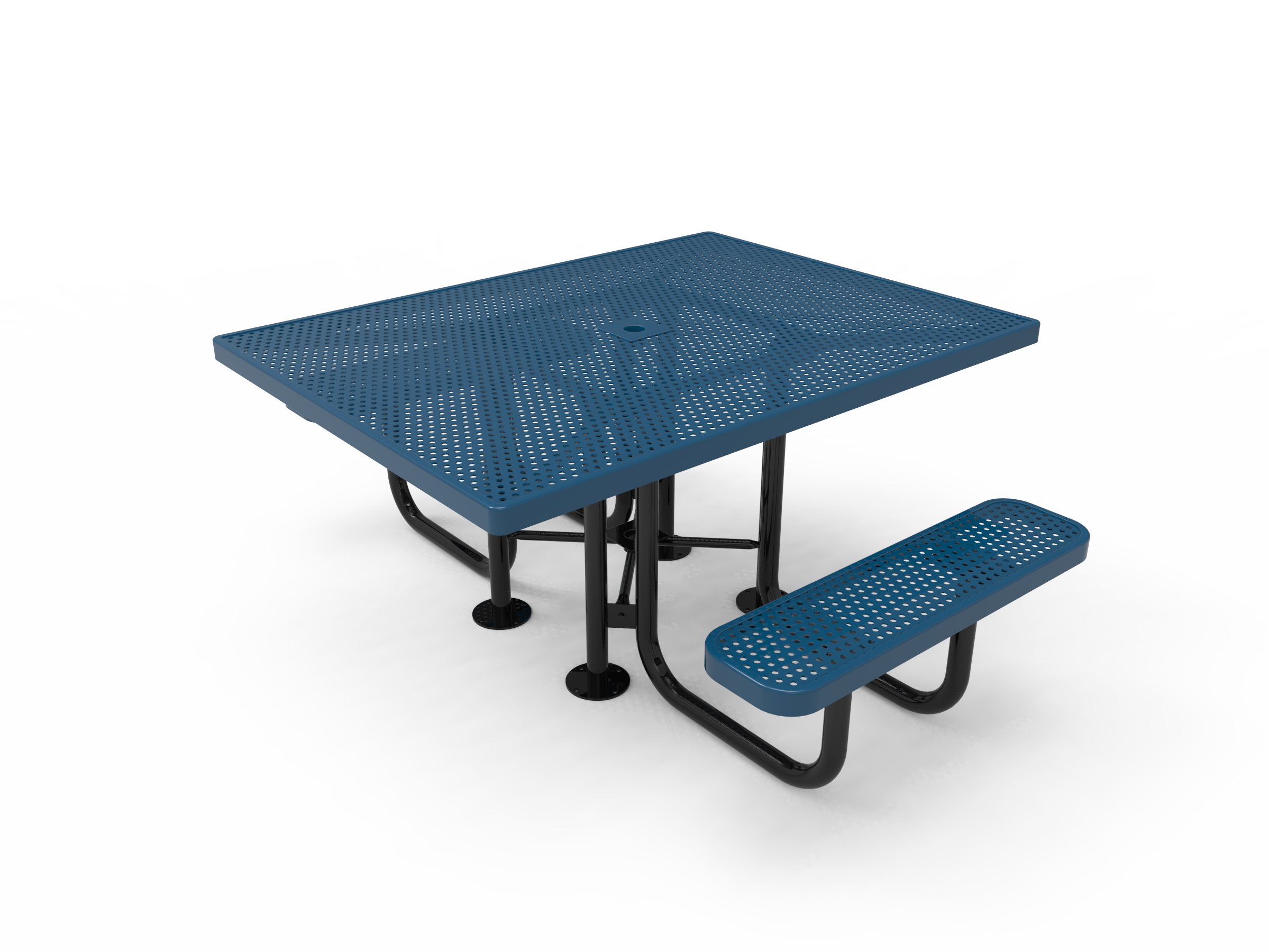 Lexington Square Portable Table - ADA Accessible, Frame with Powder Coat Finish, Top and Seats with Advanced DuraLex Coating
