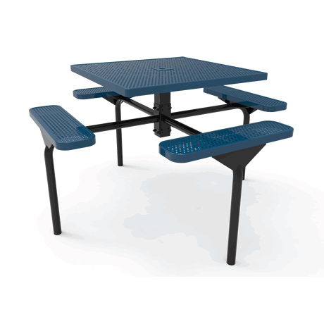 Lexington Square Nexus Pedestal Table, Frame with Powder Coat Finish, Top and Seats with Advanced DuraLex Coating