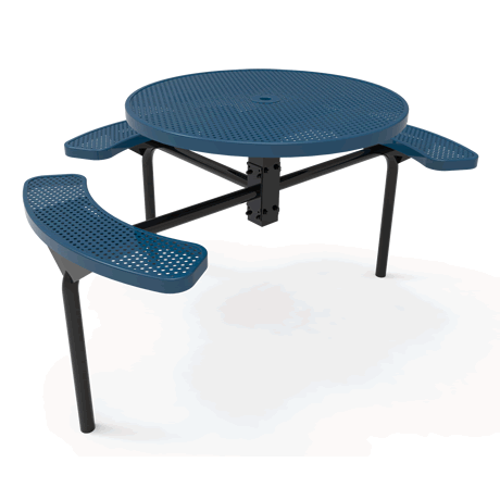 Lexington Round Nexus Pedestal Table - ADA Accessible, Frame with Powder Coat Finish, Top and Seats with Advanced DuraLex Coating