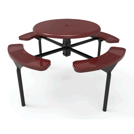 Lexington Octagon Nexus Pedestal Table with Solid Top, Frame with Powder Coat Finish, Top and Seats with Advanced DuraLex Coating