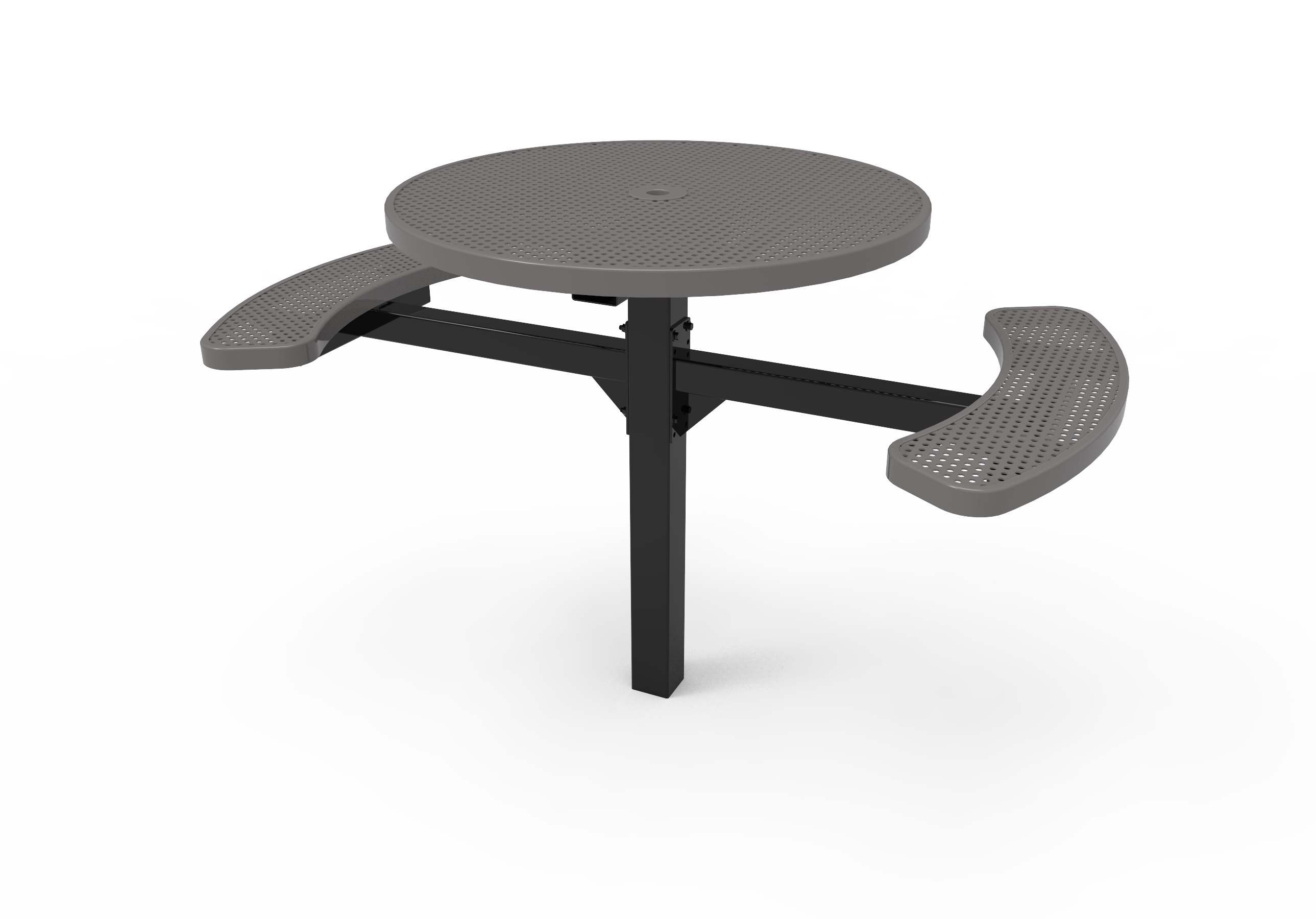 Lexington Round Pedestal Table - ADA Accessible, Frame with Powder Coat Finish, Top with Advance DuraLex Coating