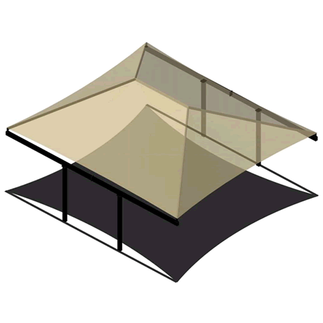 Double Post (Back2Back) Cantilever Hip 8EH x 19x20 Shade Structure