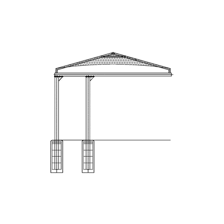 Double Post Cantilever Hip 12EH x 19x20 Shade Structure