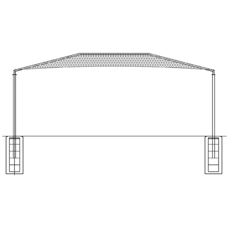 Four Post Hip 15EH x 18x24 Shade Structure