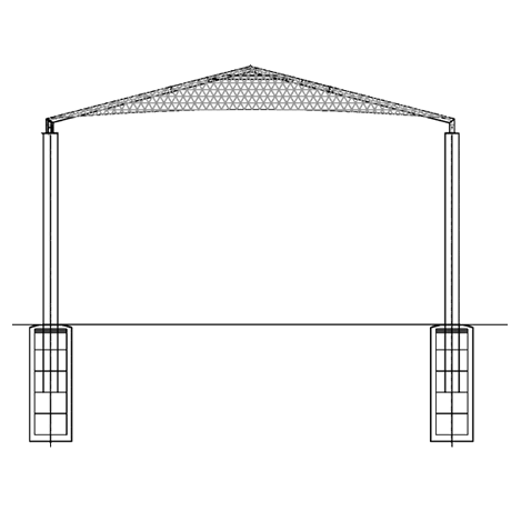 Four Post Pyramid 12EH x 10' Shade Structure