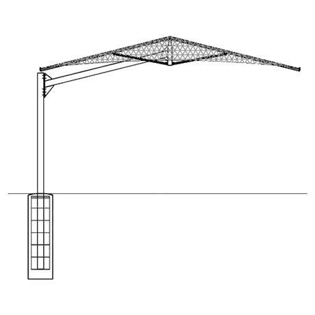 Cantilever Umbrella 12EH x 8'