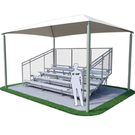 Shade Structure for 5 Row x 15' L Bleachers