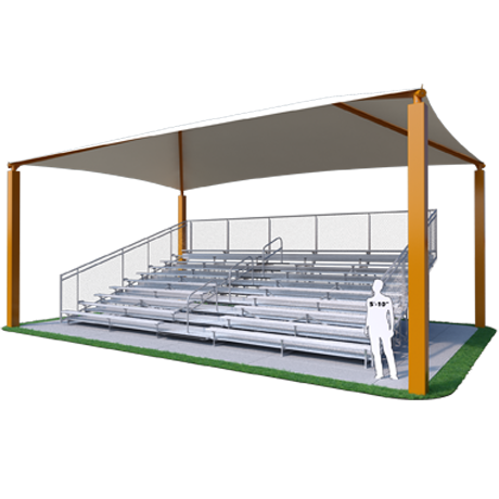 Shade Structure for 10 Row x 33' L Bleachers