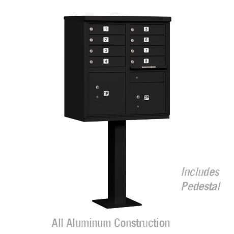 "Standard Cluster Mailbox Unit with 8 ""A"" Size Doors"