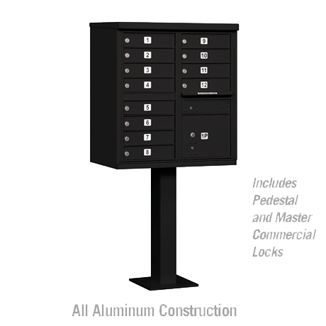 "Standard Cluster Mailbox Unit with 12 ""A"" Size Doors"