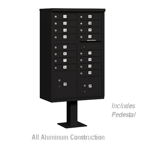 "Standard Cluster Mailbox Unit with 16 ""A"" Size Doors"