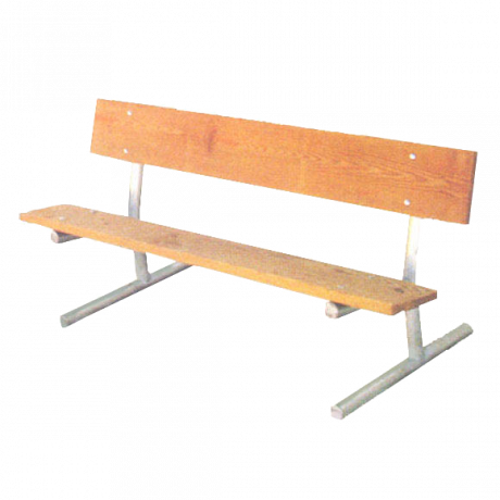 Portable Bench with Back, 2 3/8 In. O.D. Galvanized Tube, 2 In. x 10 In. Treated Southern Yellow Pine Planks-Benches and Glider Benches