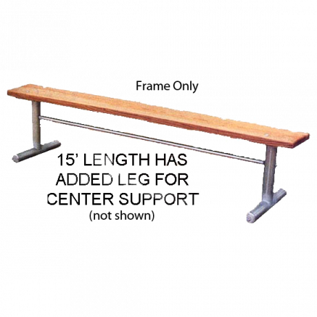 Portable Bench without Back, 2 3/8 In. O.D. Galvanized Tube, Frame Only (hardware included for wood)-Benches and Glider Benches