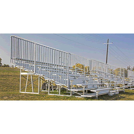 8 Row Low Rise Deluxe Non-Elevated Bleacher with Aluminum Frame