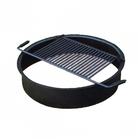 Fire Ring with Flip-Up Cooking Grate-Fire Rings