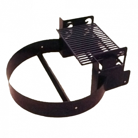 Fire Ring with Adjustable 4-Position Cooking Grate-Fire Rings