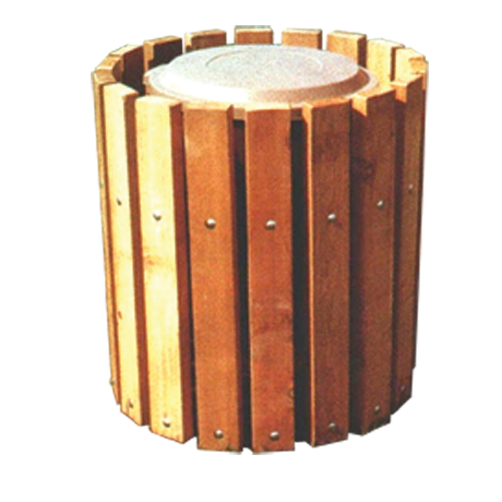 Straight Slat Receptacle-Receptacles