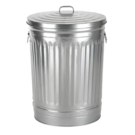 Galvanized Trash Can-Receptacles