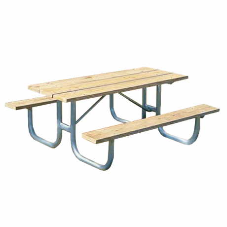 St. James Style with Wood Plank Top-Picnic Tables