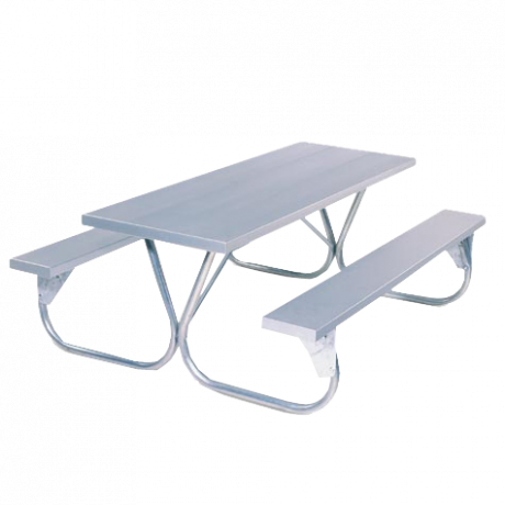 Pocono Style with Aluminum Plank Top-Picnic Tables