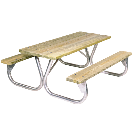 Cascade Style with Wood Plank Top-Picnic Tables