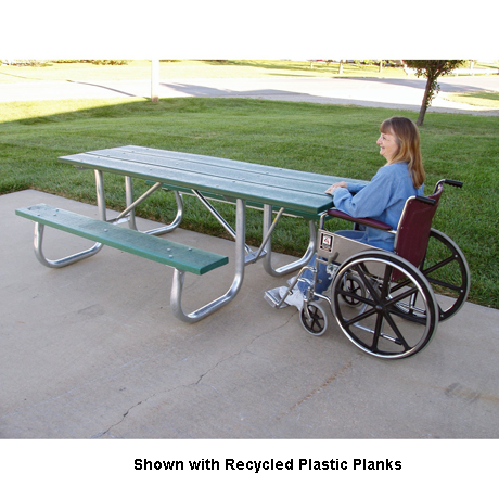 8 Ft. Shenandoah Wheelchair Series Welded Frame Table-Picnic Tables