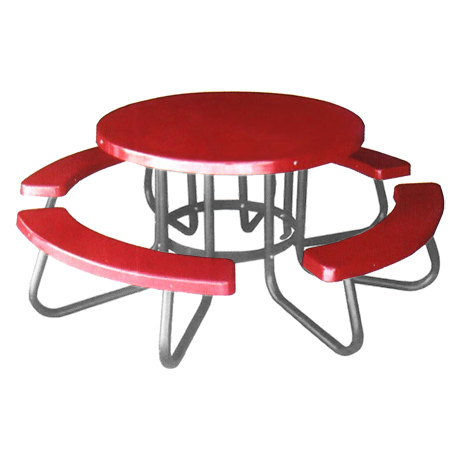 round plastic picnic table 2