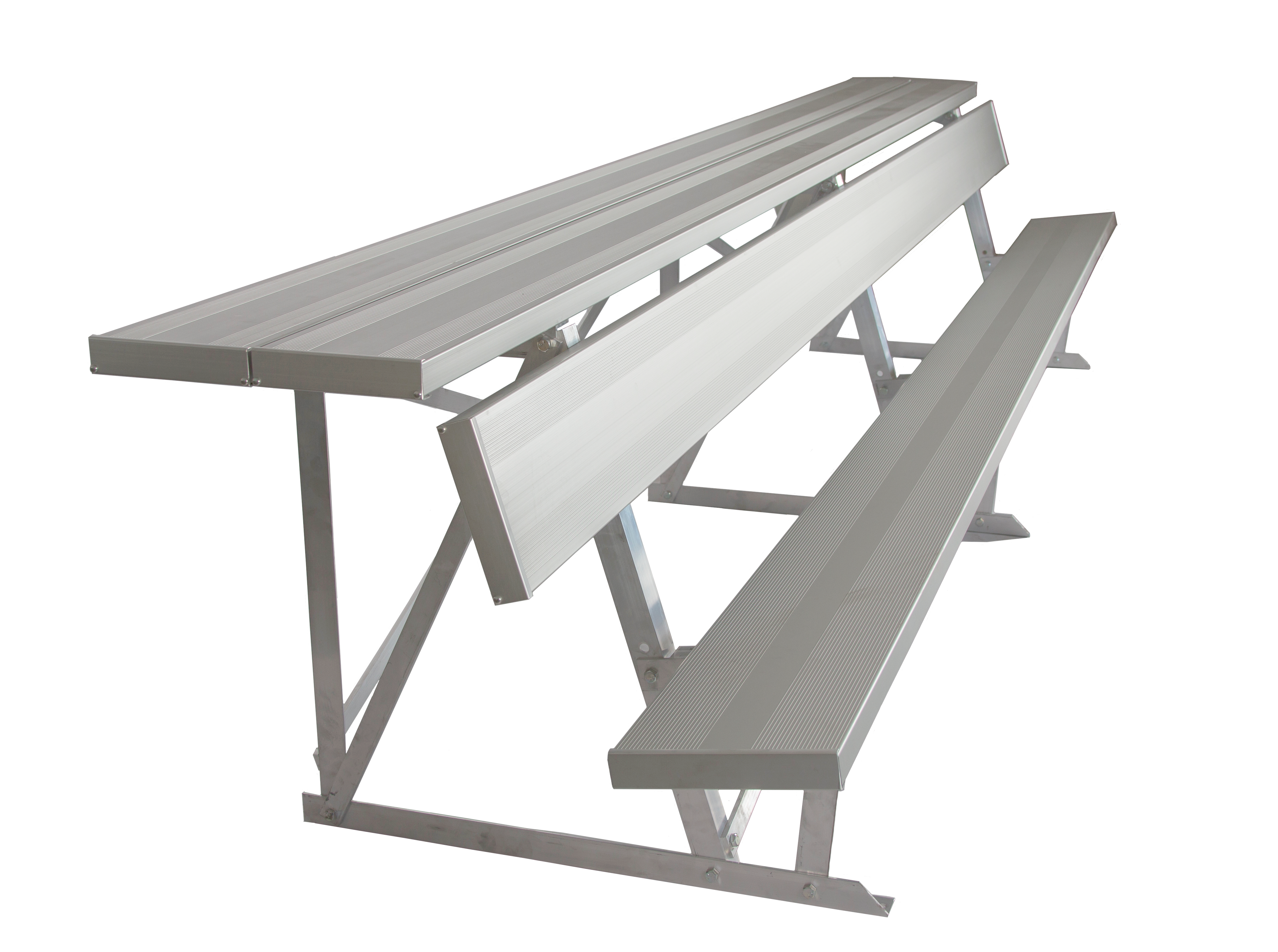 Double Shelf-Back Players Bench